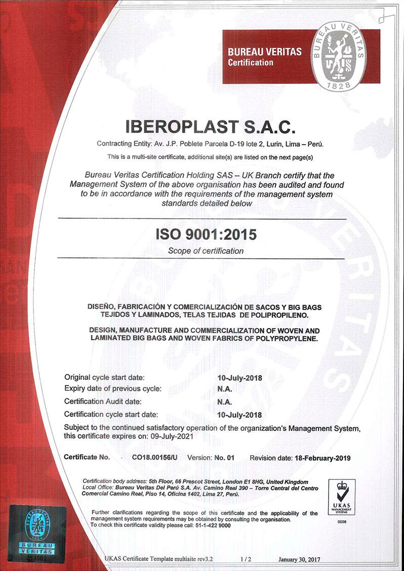 certificación-bureau-veritas-iberoplast